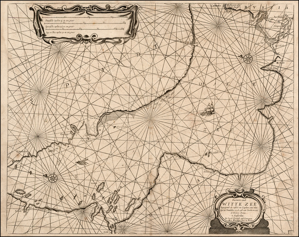 24-Russia and Scandinavia Map By Anthonie (Theunis)   Jacobsz