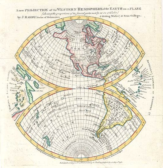 71-World, Western Hemisphere, South America and America Map By Gentleman's Magazine
