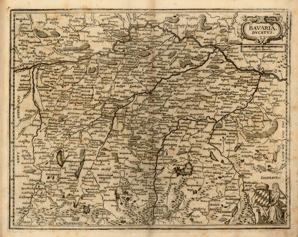 68-Germany Map By Matthaus Merian