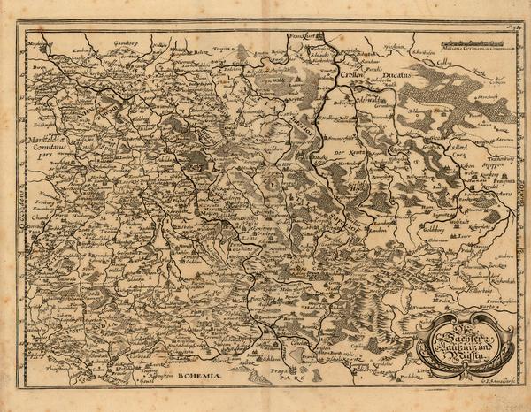 55-Germany Map By Matthaus Merian