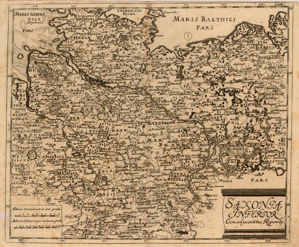 33-Germany Map By Matthaus Merian