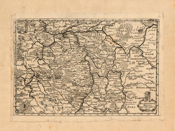 26-Germany Map By Matthaus Merian