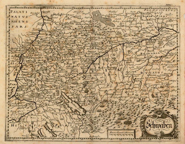 76-Germany Map By Matthaus Merian