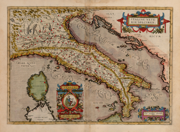 93-Europe and Italy Map By Abraham Ortelius
