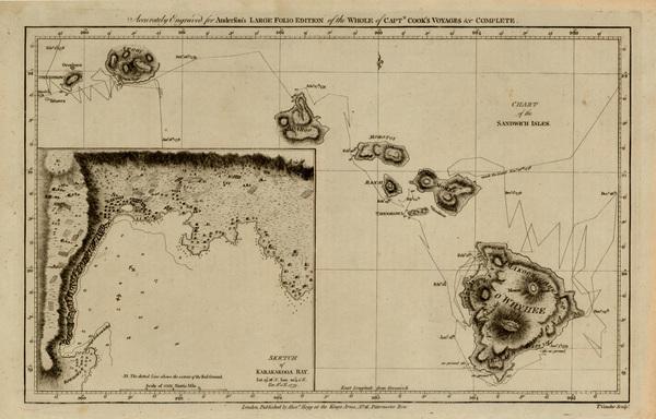 14-Hawaii, Australia & Oceania and Hawaii Map By James Cook