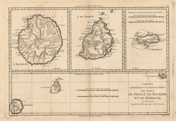 79-Africa and African Islands, including Madagascar Map By Rigobert Bonne