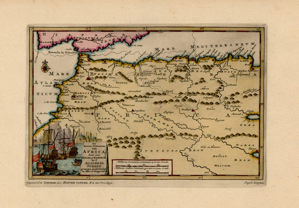 66-Spain and North Africa Map By Pieter van der Aa