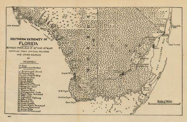 54-Southeast Map By R.E. Gamble