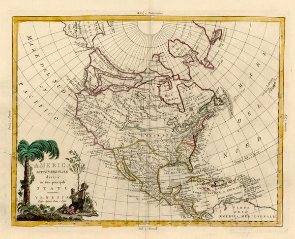 17-Alaska and North America Map By Antonio Zatta