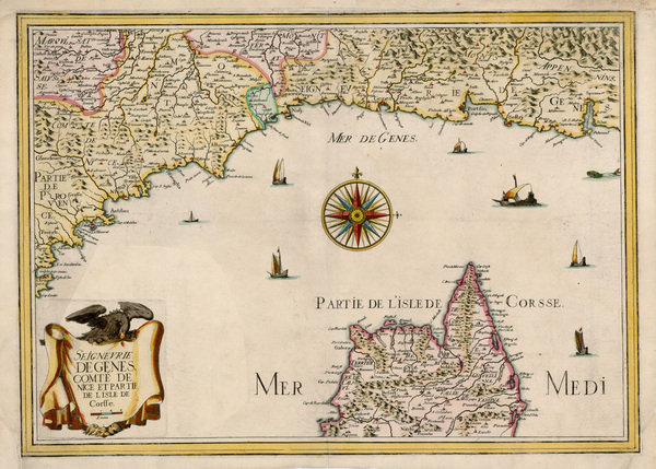 18-France, Italy and Balearic Islands Map By Christopher Tassin