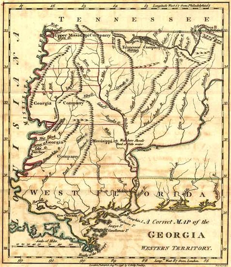 24-South and Southeast Map By Jedidiah Morse  &  Charles Dilly
