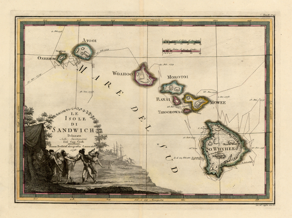 28-Hawaii, Australia & Oceania, Hawaii and Other Pacific Islands Map By Giovanni Maria Cassini