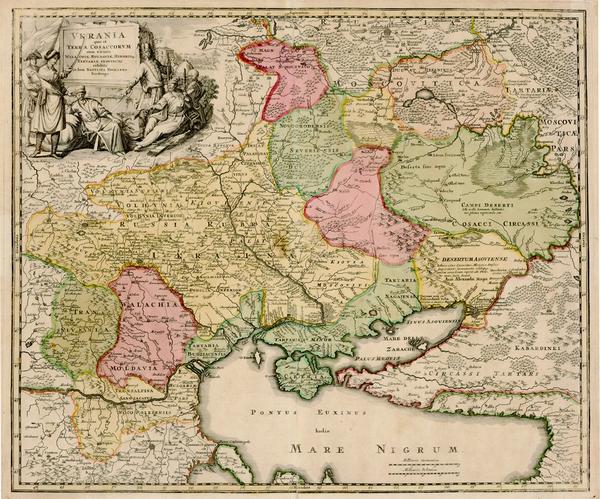 74-Europe, Russia, Ukraine, Romania and Balkans Map By Johann Baptist Homann