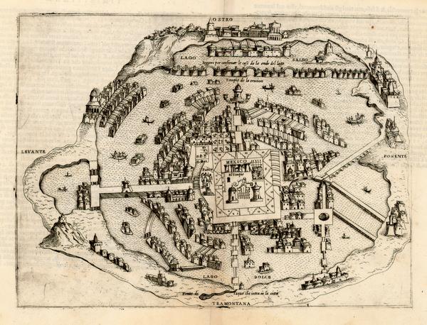 89-Mexico Map By Bolognini Zaltieri / Giulio Ballino