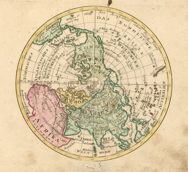 22-Northern Hemisphere and Polar Maps Map By Johann Walch