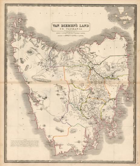54-Australia Map By W. & A.K. Johnston
