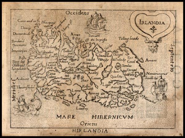 53-Ireland Map By Abraham Ortelius / Pietro Marchetti