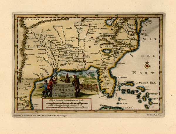 42-United States, South, Southeast, Texas, Midwest and Southwest Map By Pieter van der Aa