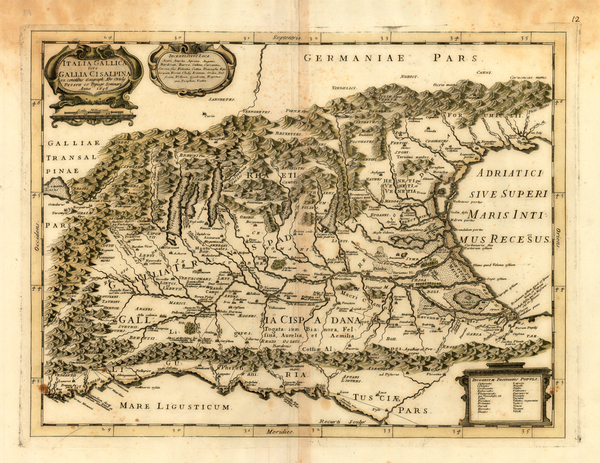 84-Europe, Switzerland, Austria and Italy Map By Giovanni Battista Recurti