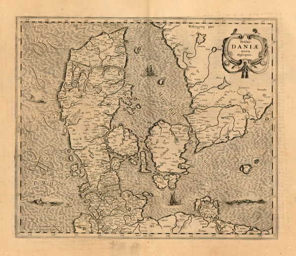 15-Scandinavia Map By Henricus Hondius / Jan Jansson