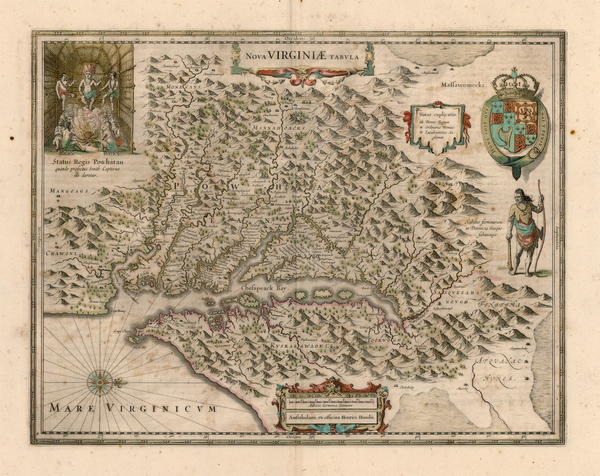 24-Mid-Atlantic and Southeast Map By Henricus Hondius