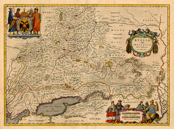 17-Europe, Russia and Ukraine Map By Johannes Blaeu