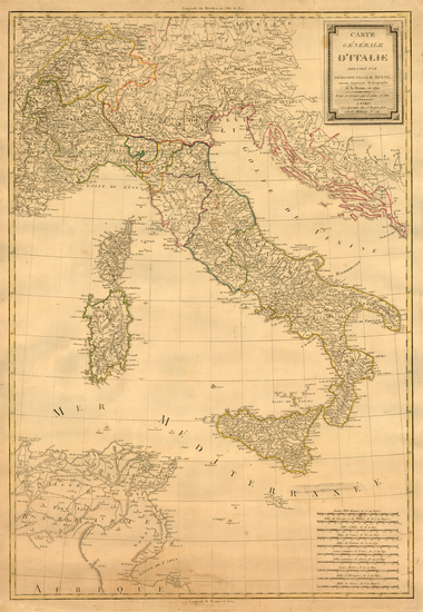 77-Europe, Italy and Balearic Islands Map By Eustache Herisson