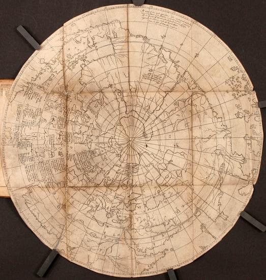 71-World, World, Northern Hemisphere, Polar Maps, North America, South America and America Map By