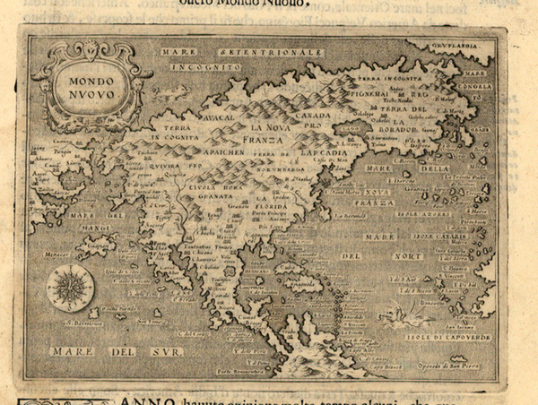 69-World, Western Hemisphere, North America, South America and America Map By Tomasso Porcacchi