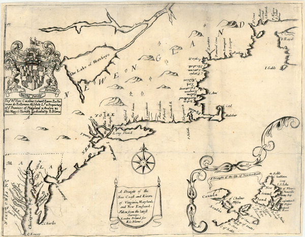 25-New England, Mid-Atlantic and Southeast Map By Richard Blome