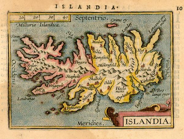 13-World, Atlantic Ocean, Europe and Iceland Map By Abraham Ortelius / Johannes Baptista Vrients