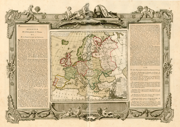 20-Europe and Europe Map By Louis Brion de la Tour / Louis Charles Desnos