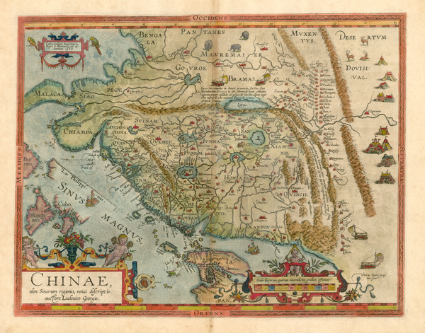 67-Asia, China, Japan, Southeast Asia and Philippines Map By Abraham Ortelius