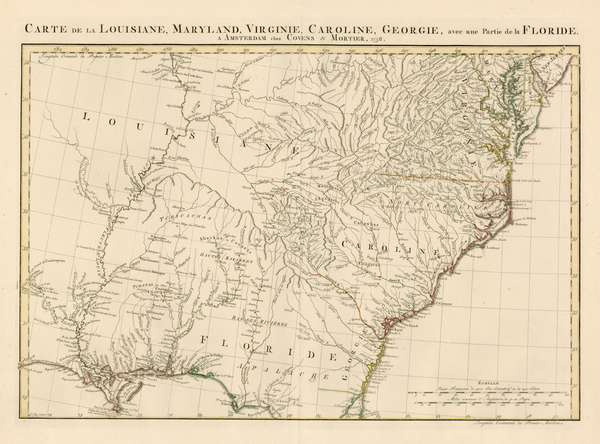 38-Mid-Atlantic, South, Southeast and Midwest Map By Johannes Covens  &  Cornelis Mortier