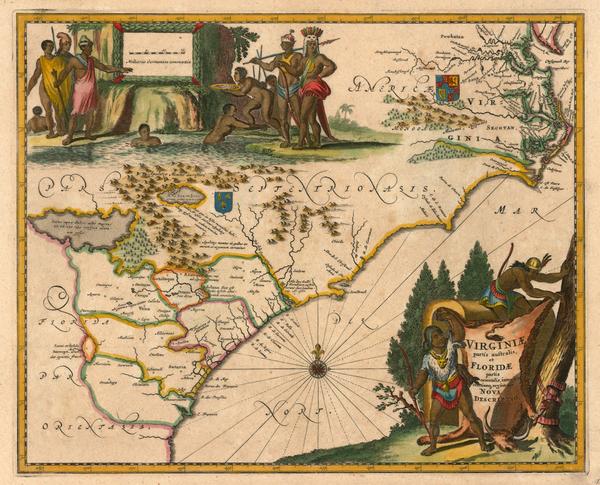 29-Mid-Atlantic and Southeast Map By John Ogilby / Arnoldus Montanus