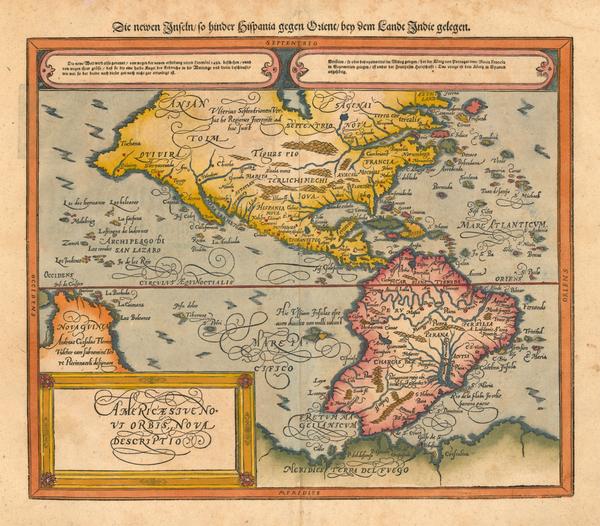 38-World, Western Hemisphere, South America and America Map By Sebastian Munster