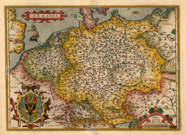 35-Europe, Netherlands, Germany, Poland and Baltic Countries Map By Abraham Ortelius