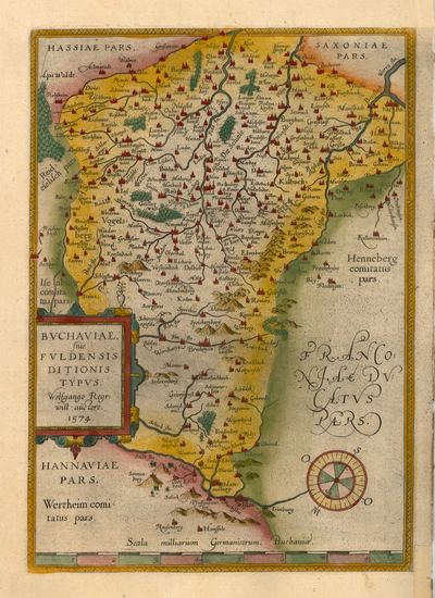 13-Europe and Germany Map By Abraham Ortelius