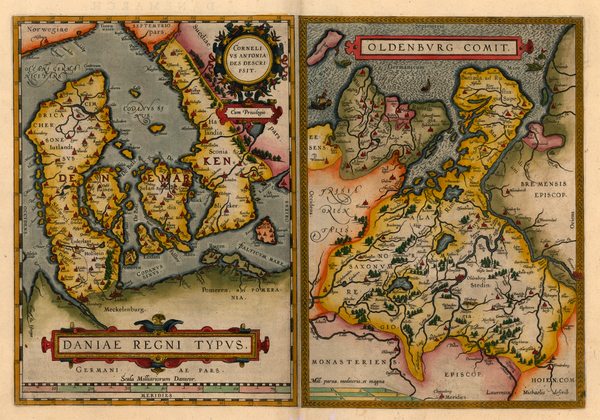 41-Europe and Scandinavia Map By Abraham Ortelius