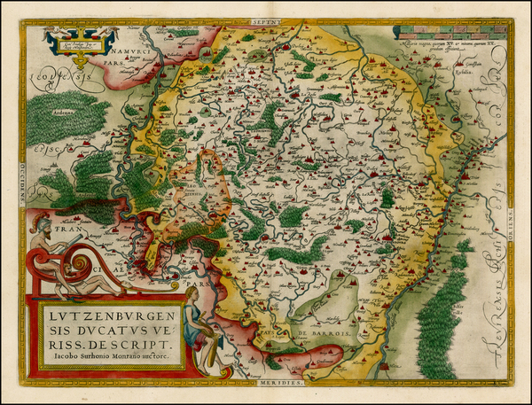 95-Luxembourg Map By Abraham Ortelius