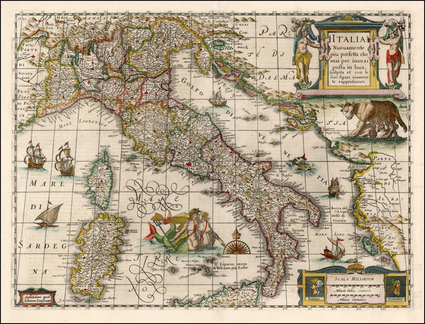 93-Europe and Italy Map By Jan Jansson