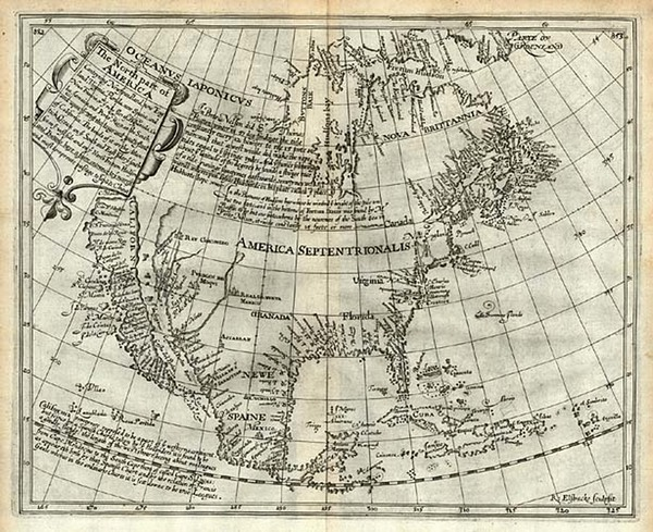 76-North America and California Map By Henry Briggs