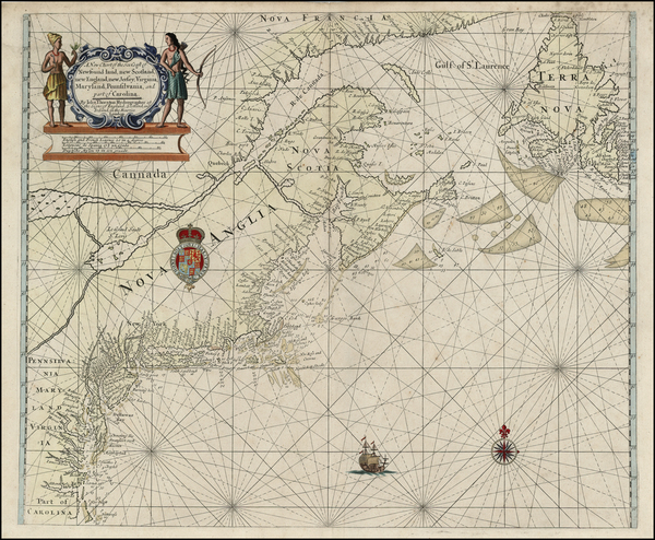81-New England, Mid-Atlantic, Southeast and Canada Map By Robert Thornton
