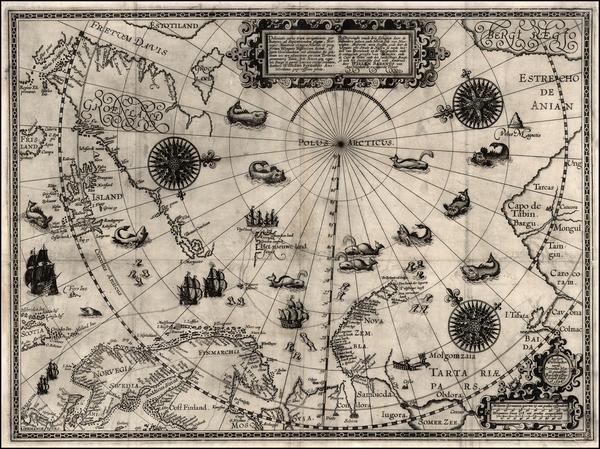 76-World, World, Northern Hemisphere, Polar Maps, Atlantic Ocean, Europe, Russia, Baltic Countries