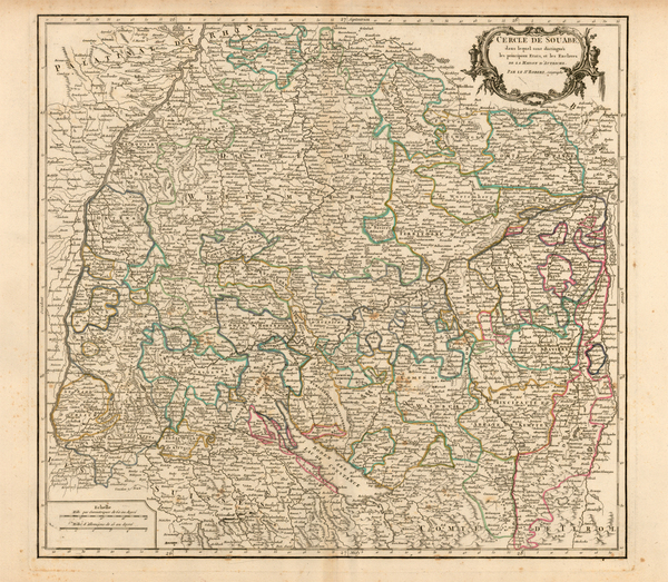 43-Germany and Austria Map By Gilles Robert de Vaugondy