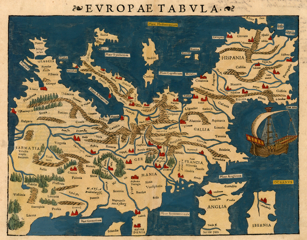 49-Europe and Europe Map By Sebastian Munster