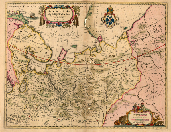 82-Europe, Russia and Ukraine Map By Moses Pitt