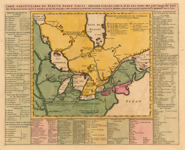 49-Midwest, Plains and Canada Map By Henri Chatelain