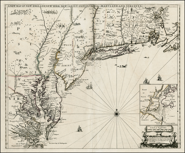 45-New England, Mid-Atlantic and Southeast Map By Robert Morden  &  Philip Lea  &  John Th