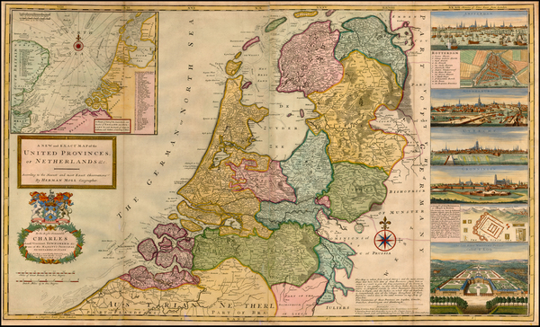 53-Netherlands and Luxembourg Map By Herman Moll